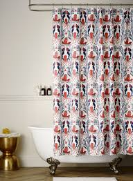 Coral Design Shower Curtain Mermaids Red Coral Shower Curtain Default Title Hygge