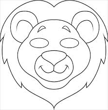 Small Picture Mask Cut Out Printable Scary Lion Mask Templatejpeg Coloring Pages