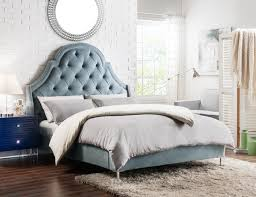 Marvelous ... Iconic Home Napoleon Alexander Arthur Constantine Nero Bed Frame With  Wingback Headboard Button Tufted Velvet Upholstered