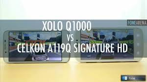 Xolo Q1000 Vs Celkon A119Q Signature HD ...