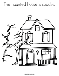 Small Picture The haunted house is spooky Coloring Page Twisty Noodle