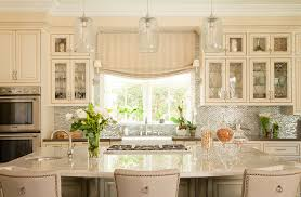 image of kitchen sink window treatments height