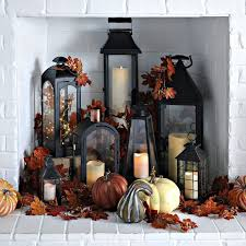 use your fireplace as another space in your home to decorate for fall fill it