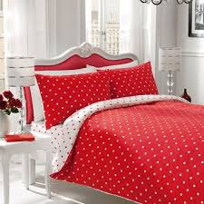polka dot red white king size duvet cover 3pcs set for contemporary home red duvet cover ideas