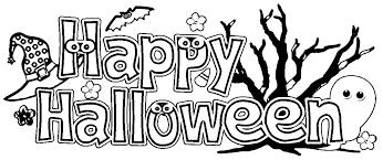 Happy Halloween Coloring Banner Halloween Arts