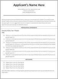 Resume On Microsoft Word Free Professional Resume Templates Word ...