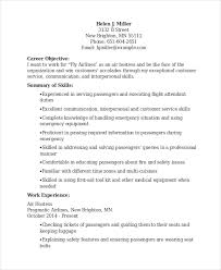 Resume Air Hostess 6 Hostess Resume Templates Pdf Doc Free Premium