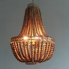 free vintage rustic wooden bead chandelier hanging lamp world market large wood capiz world market chandelier beaded
