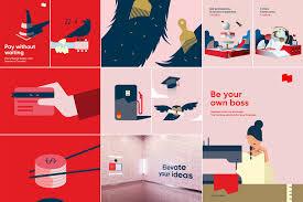 Bank Graphic Design National Bank Brand On Behance Bank Branding Employer
