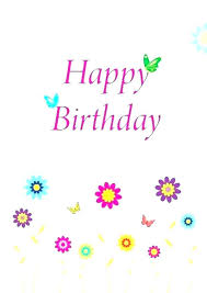 Free Printable Happy Birthday Cards Free Printable Birthday Card