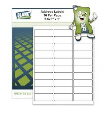 Avery 30 Label Template