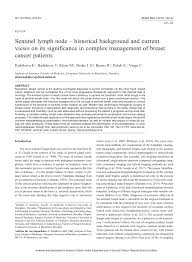 (PDF) Sentinel lymph node – historical background and current ...
