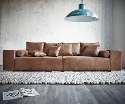 Big Sofa Marbeya 285x115 Cm Braun Mit Hocker Antik Optik