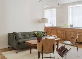 Living Room Kitchen Color The Artful Shoebox Apartment Workstead Edition Remodelista