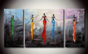 african women modern canvas oil painting framed wall art with stretched frame ready to hang on african woman wall art with african women modern canvas oil painting framed wall art with