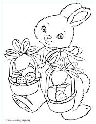 Bunny With Basket Coloring Pages A Cute Bunny Holding An Basket