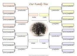 Genealogy Family Tree Forms Family Tree Templates