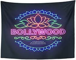 Free shipping site to store. Amazon Com Tompop Tapestry Vintage Bollywood Movie Signboard Glowing Retro Cinema Neon Home Decor Wall Hanging For Living Room Bedroom Dorm 60x80 Inches Home Kitchen