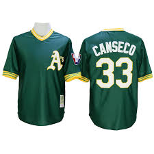 Cool Base Athletics Green Majestic Jose Jersey Throwback Cooperstown Canseco