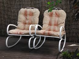 mid century metal outdoor rocking chairs c 50s