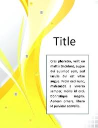 Word Cover Pages Free Download Word Cover Pages Template Elevenia Co