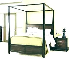 White Wood Canopy Bed Queen Frame Reclaimed Wooden Home Improvement ...