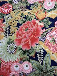 Asian Poppy Floral Japanese Spring Cotton Fabric Quilt Fabric KB03 &  Adamdwight.com