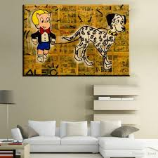 >2018 zz226 modern abstract huge wall art oil painting on canvas  2018 zz226 modern abstract huge wall art oil painting on canvas print for alec monopoly richie rich with dog from lisaart 11 94 dhgate com