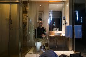 hotel with see through bathtub london ideas