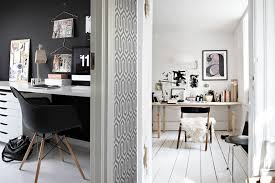 black white home office inspiration. picture office space inspiration black white home l