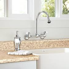 wall mount kitchen faucet with sprayer luxury post