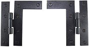 The iron hinge shows off a simplistic design. Pair Flush H L Cabinet Hinge Wrought Iron 4 5 H Renovator S Supply Cabinet Accessories Amazon Com