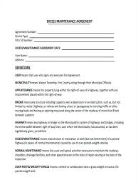 Free Lawn Care Contract Forms Maintenance Agreement Property