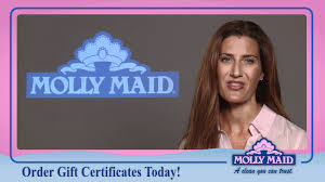 house cleaning services gift certificate from molly maid