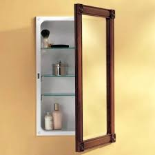 recessed medicine cabinet without mirror wood no