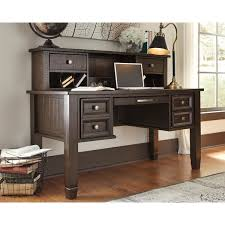 grey home office. Signature Design By Ashley Townser Grey Home Office Desk Hutch N