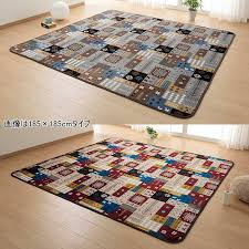 Rug hot carpet cover ふかふかあったか cushion rag Deer 200*240cm Fair Isle pattern North Europe is modern at-ease: 200