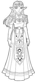 Princess Zelda Line Art By Frozen