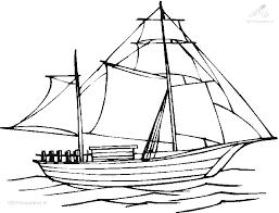 1001 Kleurplaten Voertuigen Boot Kleurplaat Zeilboot