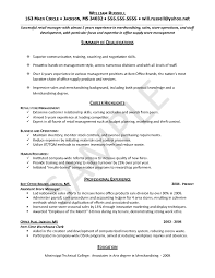 Retail Resume Example Entry Level Free Resume Templates