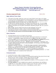 Chronological Resume Template 827×1030 10 Canadian Examples ...