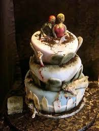 10 coolest zombie wedding cakes oddee Zombie Wedding Decorations straight out of the grave, and into your heart zombie wedding supplies