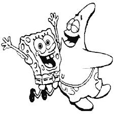 Small Picture Spongebob And Patrick Happy Coloring Page Spongebob Cartoon