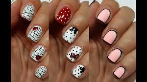 5 Basic Nail Art Designs 3 Easy Nail Art Designs For Short Nails Freehand 5