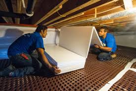 crawl space insulation cost. Modren Space Installing TerraBlock Insulation On A Crawl Space Floor For Crawl Space Insulation Cost S
