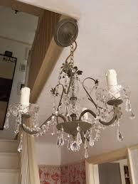 shabby chic pendant lighting. Crystal Chandelier Lighting, Upcycled Ceiling Light In Olive Annie Sloan Chalk Paint, Modern Pendant Lighting Fixture, Shabby Chic Decor