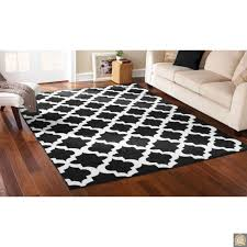 8x10 area rug black white trellis lattice carpet contemporary moroccan design