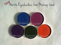 makeup geek new matte eyeshadows review and swatches
