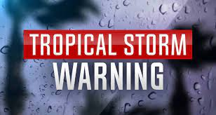 A tropical storm warning has ...