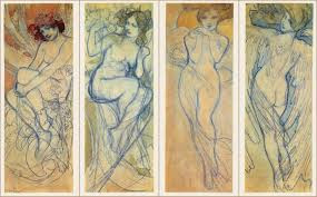 mucha before alphonse mucha s famous paintings burst forth upon completion